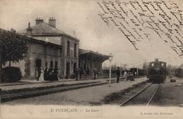 03 St POURCAIN     CPA   La Gare    Précurseur - Otros Municipios