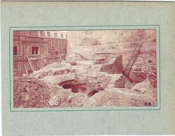 LOZERE : Mende, Découverte Des Cryptes, Photo Sur Carton (Tirage Du Dr J. Barbot), RARE... - Mende