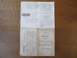 BUREAU D'ENREGISTREMENT ESTAVAYER CANTON DE FRIBOURG LOI DU 1 JUIN 1865 5 CENT ACTES SOUS SEING PRIVE MANUSCRIT 1884 ET - Fiscali