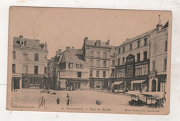86 VIENNE - CP ANIMEE CHATELLERAULT - PLACE DU MARCHE - CLICHE DELAUNET PHOTO / BOIRON GUILLOT EDIT N°19 - CIRCULEE 1903 - Chatellerault