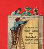6 Staande Chromos,  Glansbilder, Litho C1892, HAUST En LINDEBOOM Biscuits Gemberkoek Sucade Botersprits Nederlands - Children