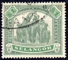 Selangor 1895 $1 SG61 - Fine Used - Selangor