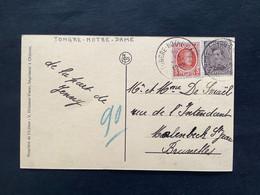 POSTKAART Uitgifte Albert I - 2c+3c HOUYOUX  - Gestempeld RELAIS TONGRE NOTRE DAME - 1915-1920 Albert I
