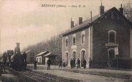 03 BEZENET    CPA   Gare - Andere Gemeenten