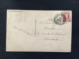 POSTKAART Uitgifte Albert I - 3c HOUYOUX  - Gestempeld RELAIS CHERSCAMP - 1922-1927 Houyoux