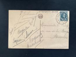 POSTKAART Uitgifte Albert I - 5c HOUYOUX  - Gestempeld RELAIS STROMBEEK-BEVER - 1922-1927 Houyoux