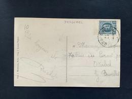 POSTKAART Uitgifte Albert I - 5c HOUYOUX  - Gestempeld RELAIS DESSCHEL - 1922-1927 Houyoux