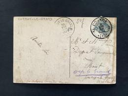 POSTKAART Uitgifte Albert I - 5c HOUYOUX  - Gestempeld RELAIS CORROY LE GRAND - 1922-1927 Houyoux