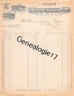 75 23299 PARIS SEINE 1916 Laines PHILIPPE Et VIALLAR Succ BLAZY FRERES Usine A Passage Turquetil Et L ABBAYE DE YERRES 9 - 1900 – 1949