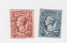 Saxe N° 11+12   Faux - Sachsen