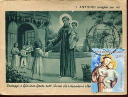 65352 Vaticano, Maximum 2021  St. Anthony  St. Antoine  San Antonio,  Vintage Card - Maximum Cards