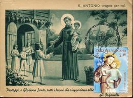 65353 Vaticano, Maximum 2021  St. Anthony  St. Antoine  San Antonio,  Vintage Card - Maximumkaarten