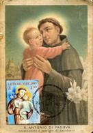 65354 Vaticano, Maximum 2021  St. Anthony  St. Antoine  San Antonio,  Vintage Card - Maximum Cards
