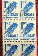 Errinophilie 20 Timbres Vignettes X 1NC La Cigale -☛La Seyne-sur-mer--☛ Années(±) 1950 - Avec Gomme Neuve ** - Erinnophilie