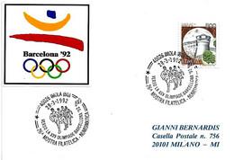 ITALIA - 1992 IMOLA (BO) Verso La XXV Olimpiade Di Barcellona - 26° Mostra Filatelica - Corridori In Gruppo - 946 - Verano 1992: Barcelona