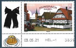 Hunspach - Le Village Préféré Des Français Coin Daté (2021) Neuf** - Neufs