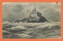 A710 / 221 50 - LE MONT SAINT MICHEL Grande Marée Par Un Jour De Tempete - Le Mont Saint Michel