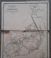 Grimbergen Kaart Der Plaatsnamen Van Grimberghen Naar De Kadasterplans Van 1845 - Cartes Topographiques