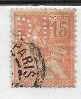 FRANCE PERFORE PERFIN PERFINS D F Sue Mouchon Y&T N° 117  Lot Perf 116 - Gezähnt (Perforiert/Gezähnt)