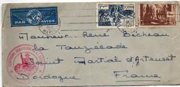 Casablanca 08.1942 - Compagnie Saharienne De La Saoula - Armée - Verso Manuscrit : Escale Aérienne Tindouf Sahara - Briefe U. Dokumente