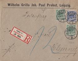 DR R-Brief Postauftrag Mif Minr.2x 46, 48 Leipzig 6.2.97 Gel. Nach Chemnitz - Briefe U. Dokumente