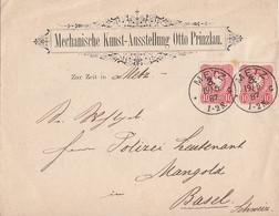 DR Werbebrief Mef Minr.2x 41 K1 Metz 19.5.87 Gel. In Schweiz - Briefe U. Dokumente