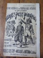 ALLONS ! PETIT PIOUPIOU ! à Paul Déroulède (chanson) Œuvre Nationale De Propagande Antijuive -Librairie Antisémite - Partituren