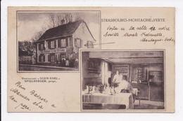 """CP 67 STRASBOURG MONTAGNE VERTE Restaurant """"Schwaenel""""Spielberger Prop. - Strasbourg"""