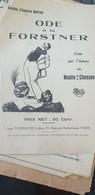 ODE A LA FORSTNER AUGUSTIN MARTINI /AIR LE JOUEUR DE LUTH - Partitions Musicales Anciennes