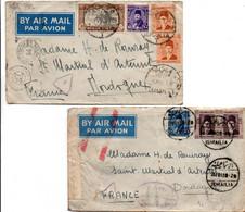 Ismaïlia 1945 - Censor Censure - 2 Lettre Cover Brief - Lettres & Documents
