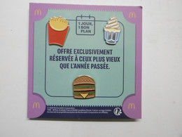 Pin's - McDonald's - Pin Badge MAC DO - MACDO Pins Badges Sur Encart D'origine - Anniversaire Offre Exclusive - McDonald's