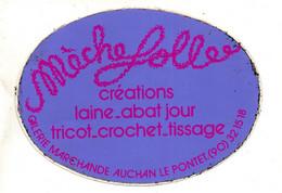 Autocollants  - Pub  Mèche Folle Créations Laine Abat Jour Galerie Marchande Auchan Le Pontet (90) - Autocollants