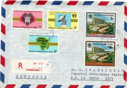 Kinshasa Kalina 1971 - Lettre Recommandée Registered Cover Brief - - Covers