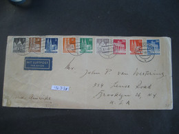 Deutschland Alliierte Besetzung Bizone 1949- Luftpost-Brief Gelaufen Lüdenscheid - New York Mit MiNr. ... - Amerikaanse-en Britse Zone