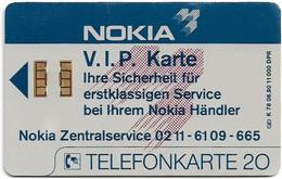 Germany - K 0078 - Nokia - V.I.P. Karte, 06.90, 20U, 11.000ex, Used - K-Reeksen : Reeks Klanten
