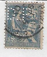 FRANCE PERFORE PERFIN PERFINS D F Sur Mouchon Y&T N° 114  Lot Perf 151 - Gezähnt (Perforiert/Gezähnt)