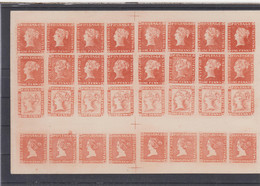 Mauritius Michel Cat.No. Unused Reprints First Issue As Sheets - Mauritius (...-1967)