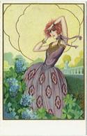 Illustrateur :  BONORA.  Femme Elégante. Mode. - Altre Illustrazioni