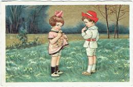 Illustrateur : COLOMBO, E.  Couple D'Enfants. - Colombo, E.