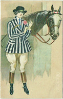 Illustrateur : COLOMBO, E. Femme, Cavalière Et Cheval. - Colombo, E.