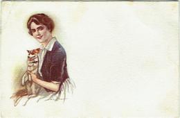 Illustrateur : TERZI. Femme Et Chien. - Altre Illustrazioni