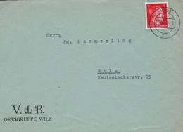 Luxembourg - Luxemburg -  Lettre 1944  Occupation   V.d.B. Ortsgruppe , Wiltz - 1940-1944 Duitse Bezetting