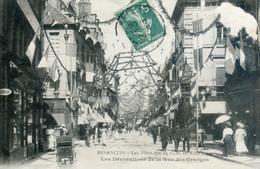 60A....Les Fêtes Des 14 Et 16 Aout 1908.Les Décorations De La Rue Des Granges - Besancon