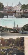 4840137Haarlem, Vijver 1904. – Oude Turfmarkt 1907. – Kaasmarkt 1906. (3 Kaarten)(zie Hoeken En Randen) - Haarlem