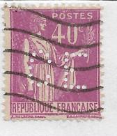 FRANCE PERFORE PERFIN PERFINS C E Sur Paix Y&T N° 281  Lot Perf 160 - Perforadas
