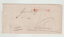 """Baden - 1845 - Vorphilabrief Roter L1 """"RADOLFZELL"""", Innen """"Grossh. Bezirksforstei"""" (1431) - [1] Préphilatélie"""