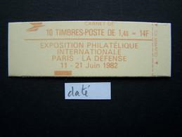2102-C6 CONF. 9 CARNET DATE DU 13.1.81 FERME 10 TIMBRES SABINE DE GANDON 1,40 ROUGE PHILEXFRANCE 82 - Usados Corriente