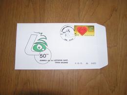 50 ème ANNIVERSAIRE DE LA LOTERIE NATIONALE 7000 Mons 1984 Enveloppe FDC First Day Cover BELGIQUE BELGIUM Timbre Poste - 1981-90
