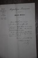 1882 MÉDAILLE MILITAIRE 14ÈME LÉGION GENDARMERIE LETTRE DOCUMENT ATTRIBUTION DIPLÔME - Documenti