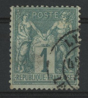 N° 61 Sage Type I (N Sous B) Cote 125 €, Obl. C à D. (voir Description) - 1876-1878 Sage (Type I)